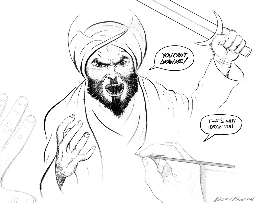 Drawing of Muhammed